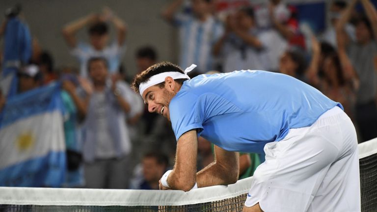 Del Potro was left drained by several gruelling rallies