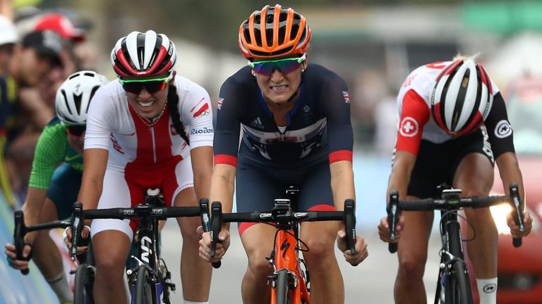 Lizzie Armitstead finished fifth after losing ground on the final climb