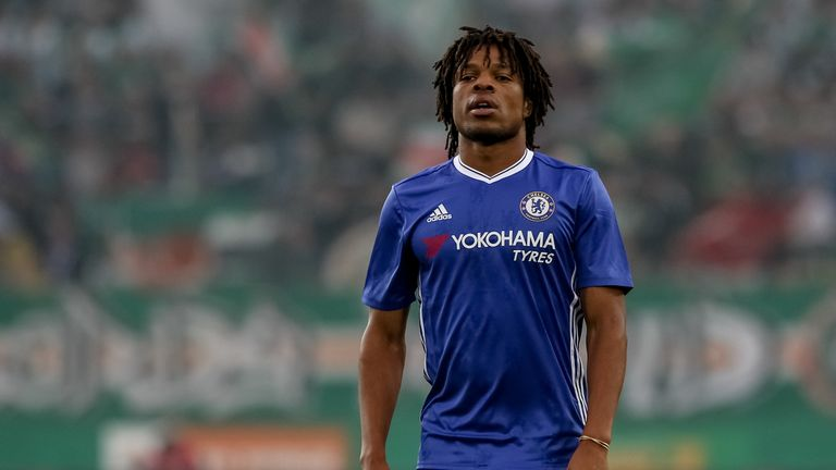 VIENNA, AUSTRIA - JULY 16: Loic Remy of Chelsea in action during an friendly match between SK Rapid Vienna and Chelsea F.C. at Allianz Stadion on July 16,