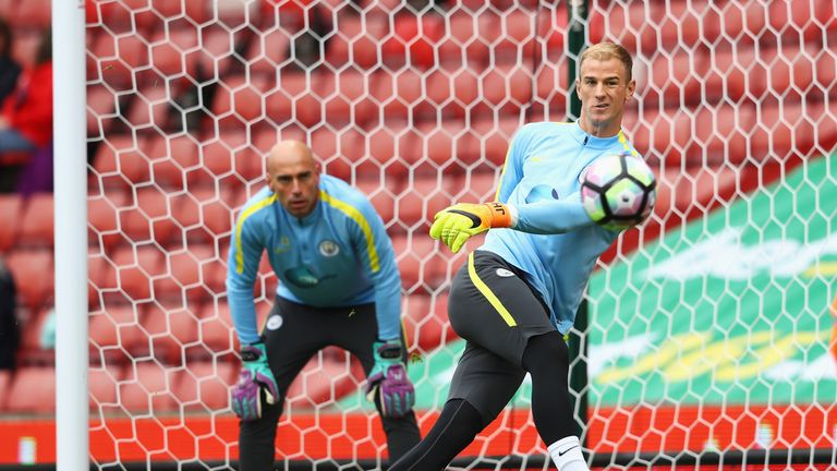 Willy Caballero has been picked ahead of Hart in the Premier League this season