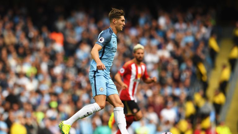 John Stones made his Manchester City debut