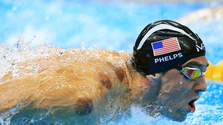Michael Phelps' right shoulder was dotted with 'cupping' marks in Rio