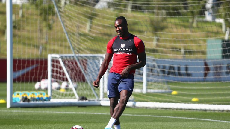 Michail Antonio during an England training session on Tuesday