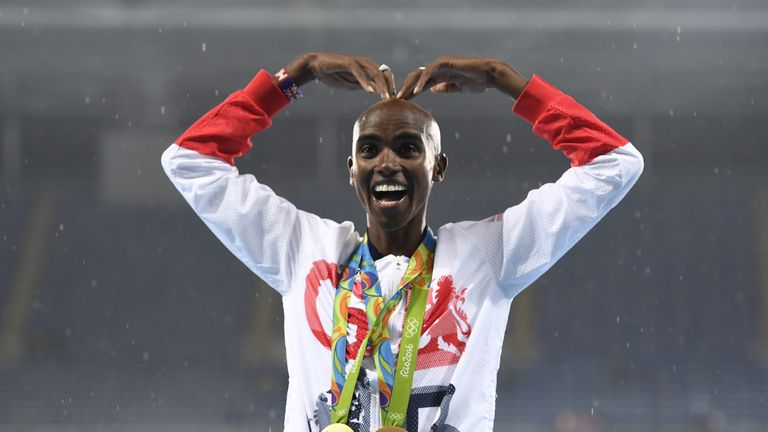 Mo Farah was knighted in the New Year honours list