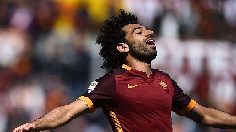 The Egyptian scored 15 Serie A goals and assisted a further 13 for Roma last season