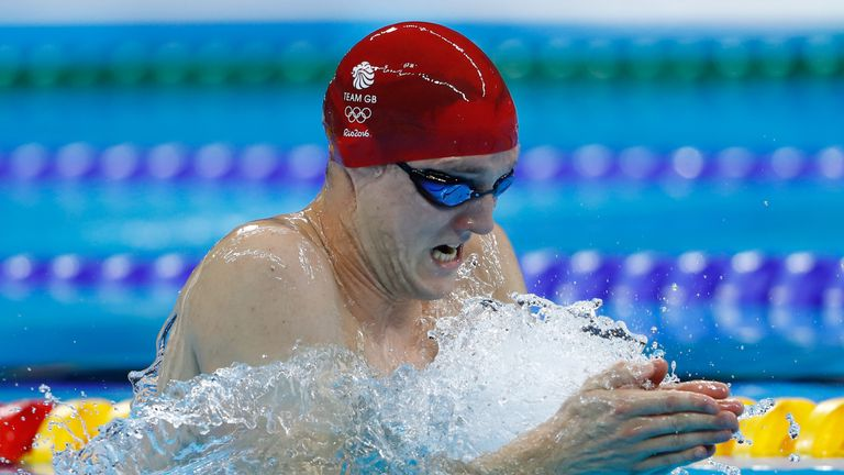 Andrew Willis just missed out on the medals in the men's 200m breaststroke