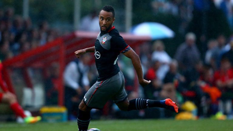 OLDENZAAL, NETHERLANDS - JULY 27:  Nathan Redmond of Southampton runs with the ball  during the friendly match between Twente Enschede and FC Southampton a