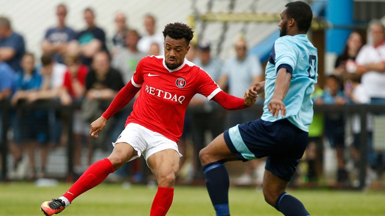 Charlton Athletic's Nicky Ajose in action during a pre-season friendly with Welling United
