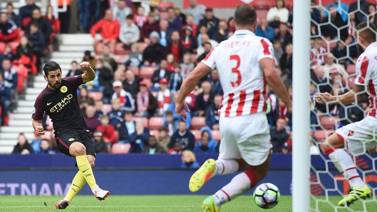 Nolito scores Manchester City's third goal