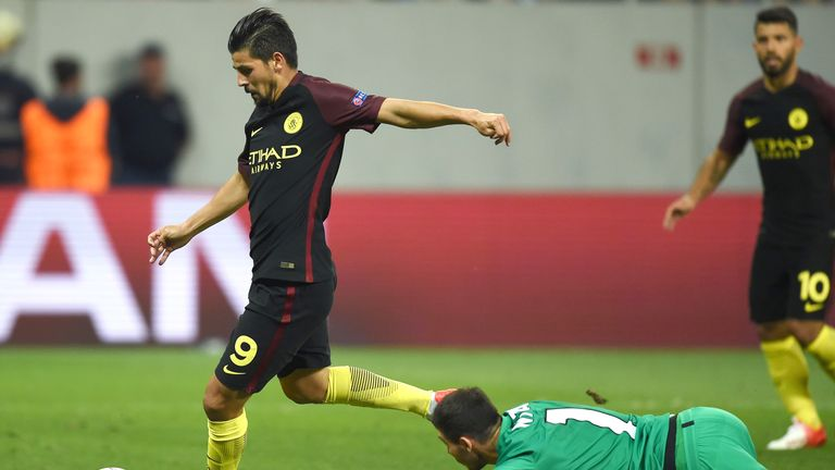 Nolito scores Manchester City's third goal of the game