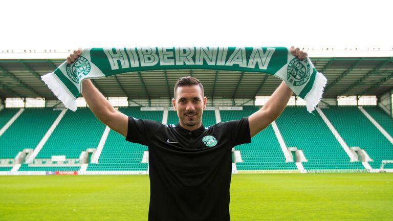 Ofir Marciano joins Hibernian on a season long loan - pic courtesy Hibernian FC