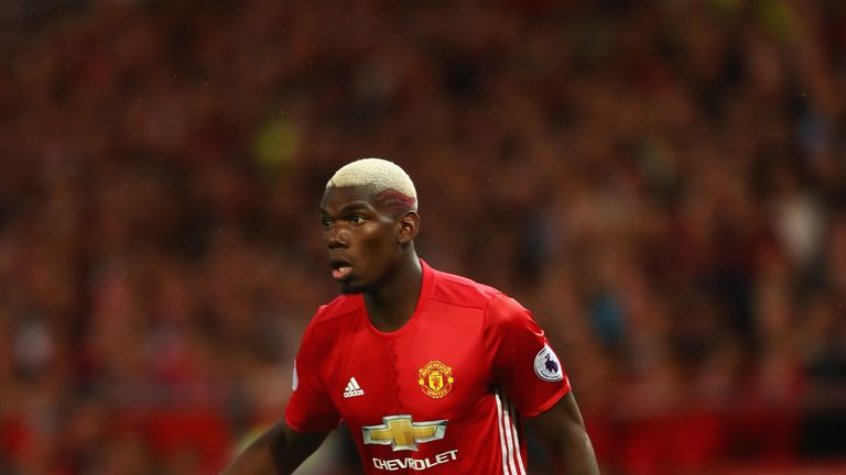 MANCHESTER, ENGLAND - AUGUST 19:  Paul Pogba of Manchester United in action during the Premier League match between Manchester United and Southampton at Ol