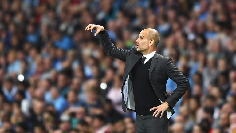 Guardiola will face Jose Mourinho for the first time in the Premier League on Saturday