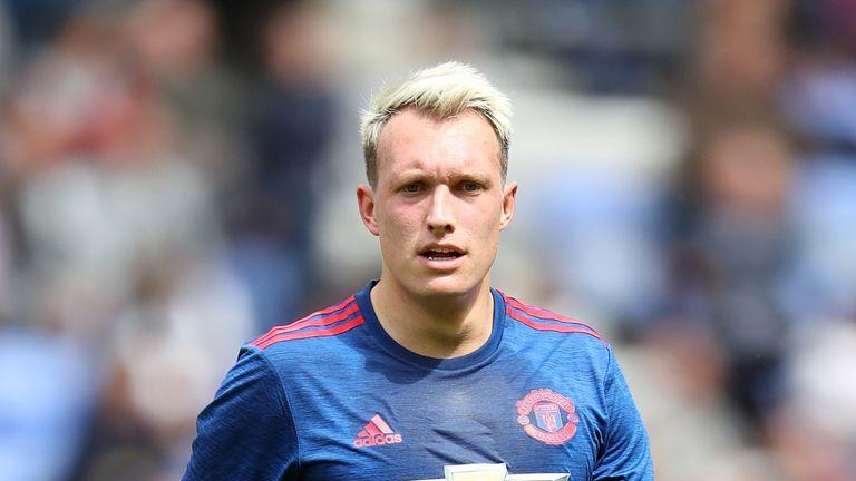 Manchester United's Phil Jones v Wigan in pre-season