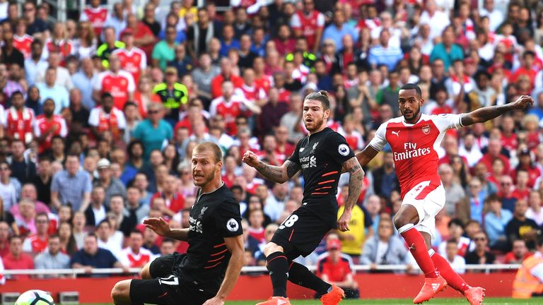 Theo Walcott scored the opening goal of the match for Arsenal
