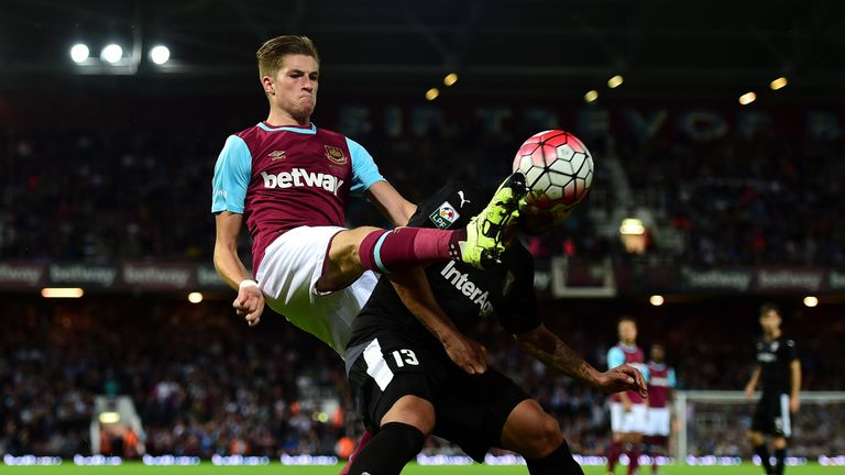 Reece Burke featured against Astra Giurgiu in the 2015 Europa League play-off