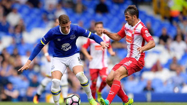 Ross Barkley of Everton in action during a pre-season match against Espanyol at Goodison Park