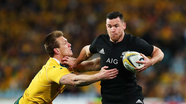 Ryan Crotty of the All Blacks has suffered a head injury