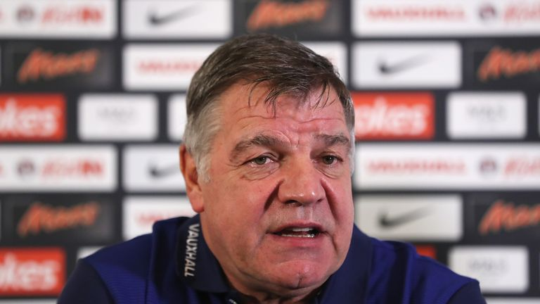 Sam Allardyce has picked his first ever England squad