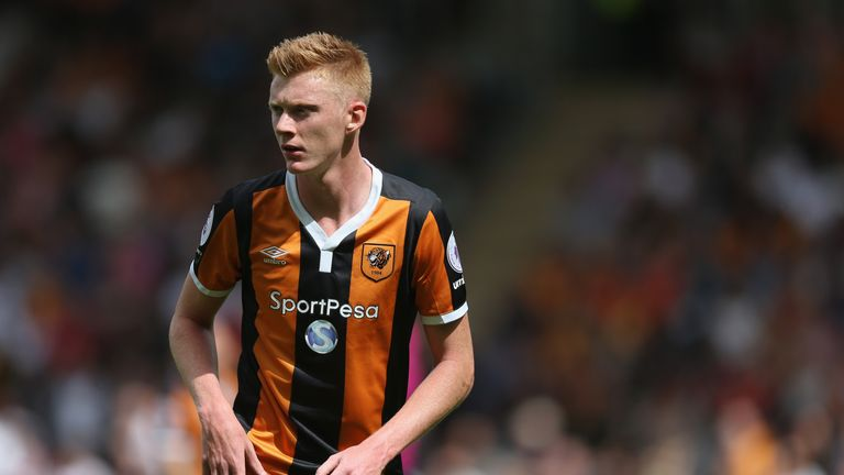 HULL, ENGLAND - AUGUST 13:  Samuel Clucas of Hull during the Premier League match between Hull City and Leicester City at KC Stadium on August 13, 2016 in