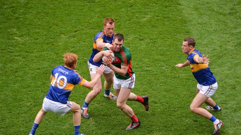 Mayo's Seamus O'Shea against Tipperary