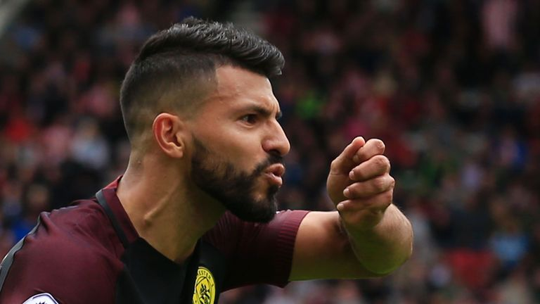 City striker Sergio Aguero is suspended for the clash at Old Trafford