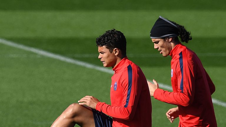 Thiago Silva and Edinson Cavani have taken part in the International Champions Cup in pre-season but will sit out PSG's season opener