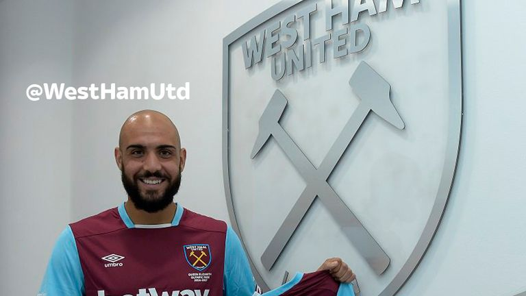 Simone Zaza has joined West Ham on a season-long loan (picture via @WestHamUtd on Twitter)