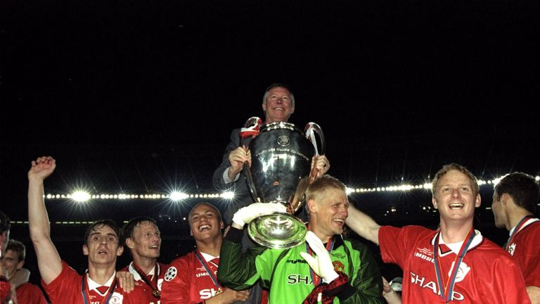 Manchester United won the 1999 Champions League final with two stoppage-time goals