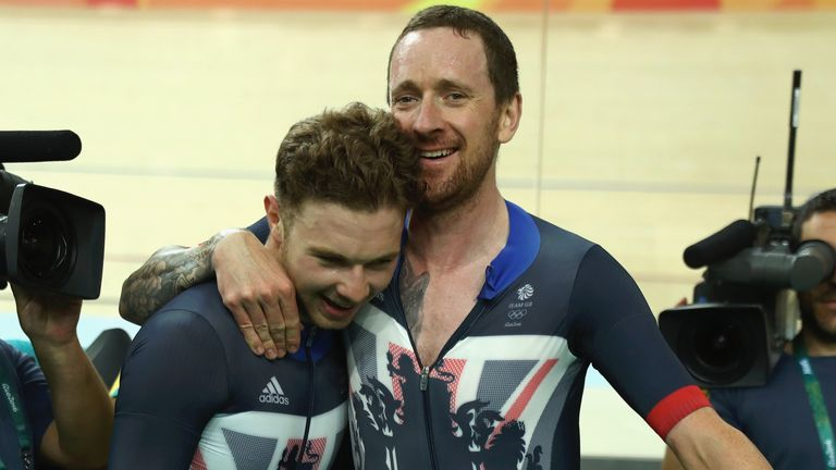 Wiggins and Doull celebrate their victory