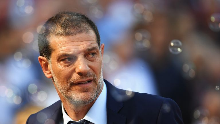LONDON, ENGLAND - AUGUST 21:  Manager of West Ham United, Slaven Bilic looks on as bubbles are blown during the Premier League match between West Ham Unite