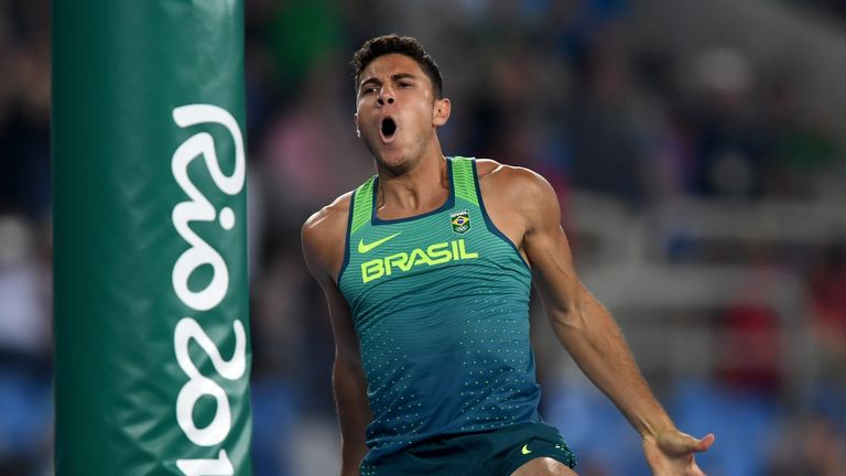 Thiago Braz da Silva won Brazil's second Olympic gold medal
