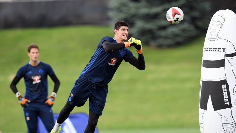 Courtois is put through his paces ahead of the new campaign