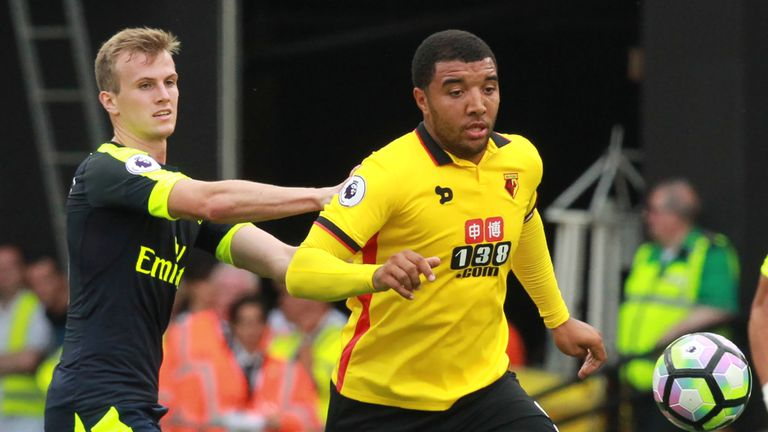 Troy Deeney (R) says there's reasons for Watford to be positive despite losing 3-1 to Arsenal