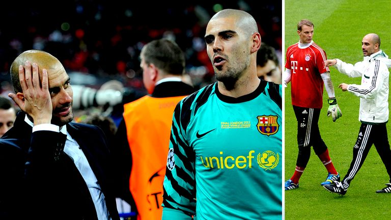Victor Valdes and Manuel Neuer were key figures at Pep Guardiola's previous clubs