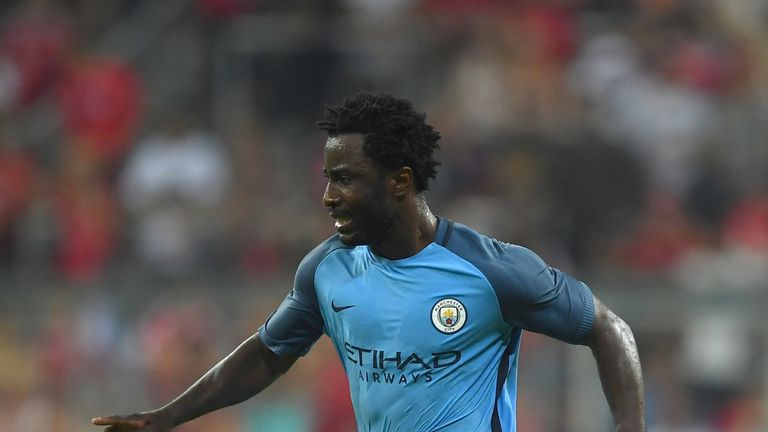 MUNICH, GERMANY - JULY 20:  Wilfried Bony of Manchester City in action during the pre season friendly match between FC Bayern Muenchen and Manchester City