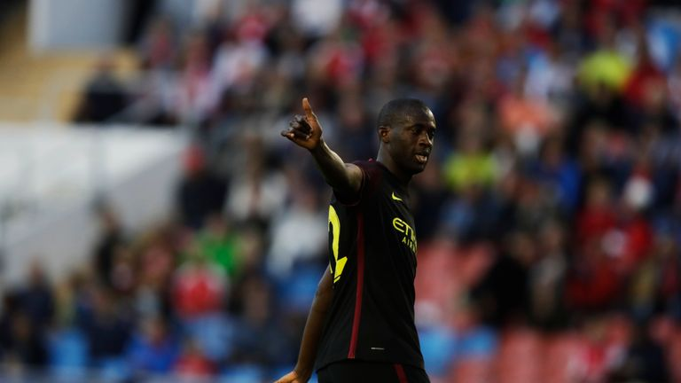 Toure has so far been restricted to substitute appearances in each of City's three open-door friendlies this summer