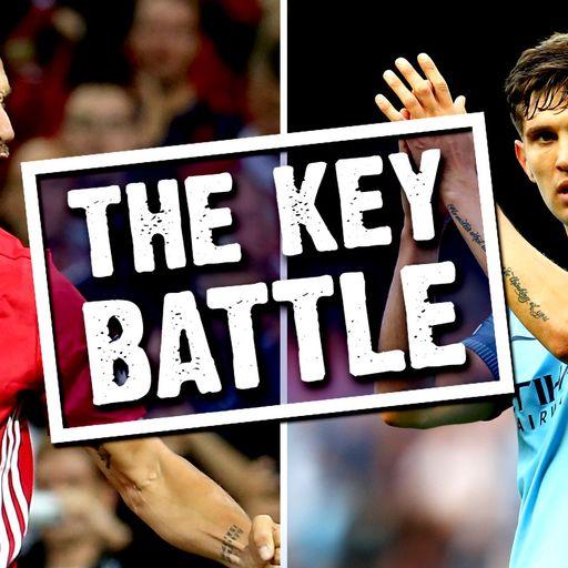 Key battle: Zlatan v Stones