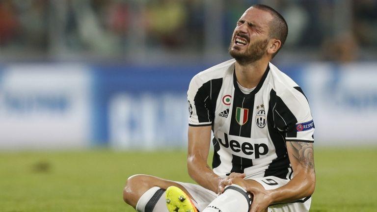 Leonardo Bonucci durante il match Juventus-Siviglia (foto Getty)