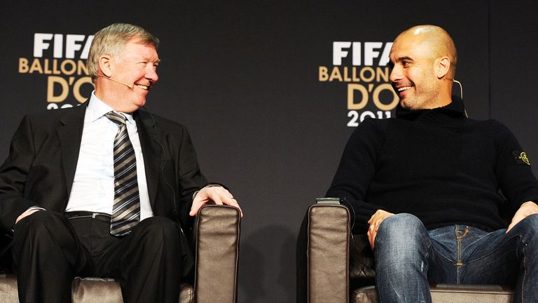 Ferguson says Pep Guardiola's Manchester City are 'favourites' for the title