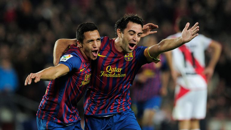 Sanchez played alongside Xavi during his three-year spell at Barcelona