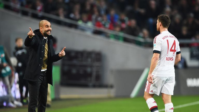 Alonso was signed by Guardiola in 2014 from Real Madrid