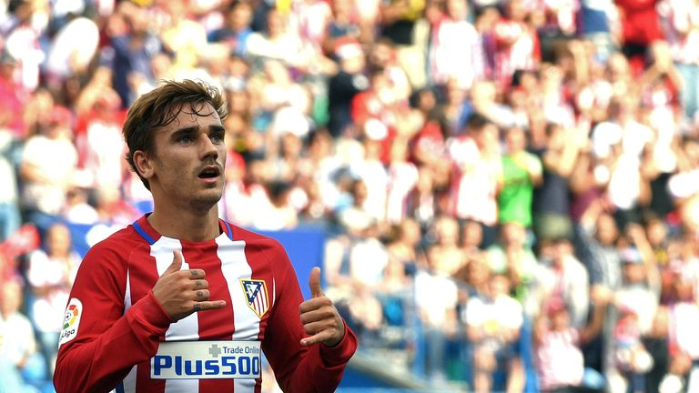 Antoine Griezmann has scored 51 La Liga goals in 92 appearances for Atletico Madrid since joining them in July 2014