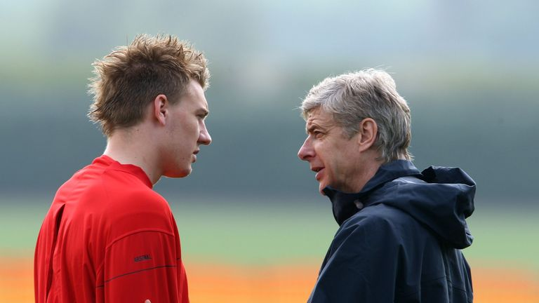 Arsene Wenger gave Nicklas Bendtner his first-team debut at Arsenal