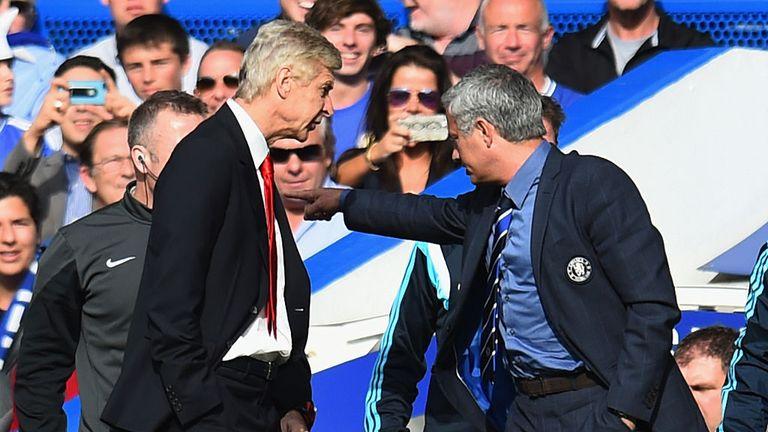 Arsene Wenger clashed with Jose Mourinho at Stamford Bridge last season