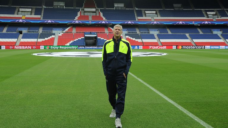Arsene Wenger, Parc des Princes, Paris Saint-Germain v Arsenal previews, UEFA Champions League