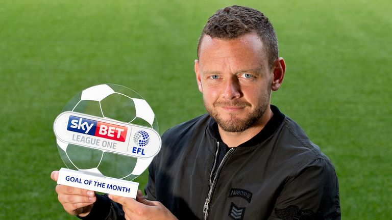 Jay Spearing of Bolton with the Sky Bet League One Goal of the Month award