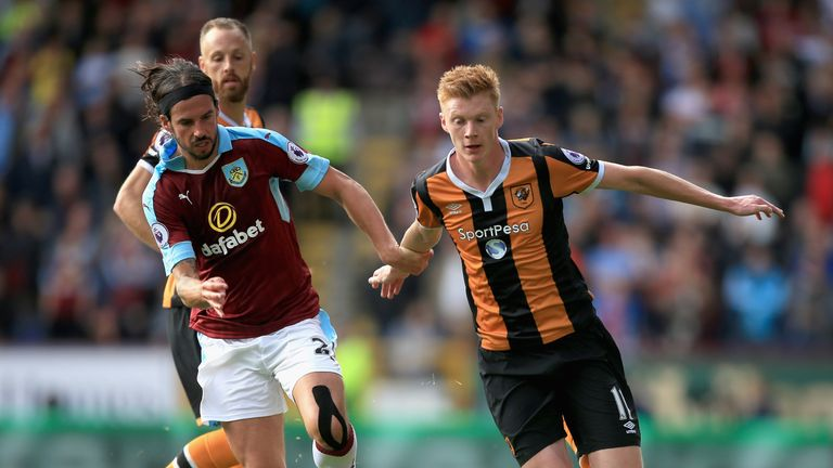 George Boyd and Sam Clucas battle for possession