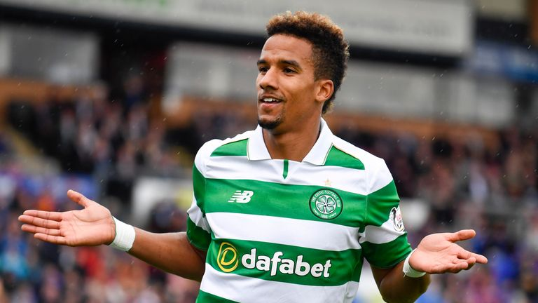 Celtic's Scott Sinclair celebrates his goal