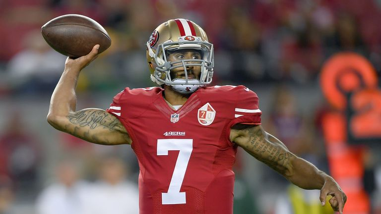 Kaepernick is a free agent after leaving the San Francisco 49ers at the end of last season